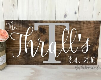 Family Sign // Wood Sign // Rustic Sign //  Established Sign // Family // Large Wood Sign // Name Sign //