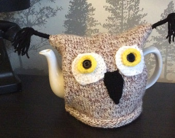 Hand knitted Owl Tea Cosy Perfect Gift