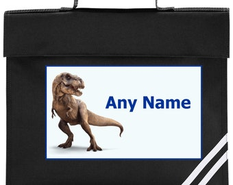 Personalised Dinosaur/T Rex School Book Bag *Choice of colours*