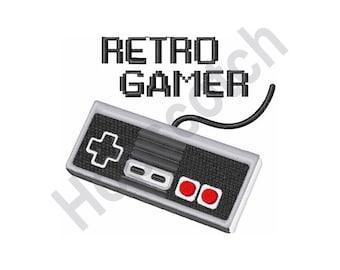 Retro Gamer - Machine Embroidery Design, Nintendo Controller