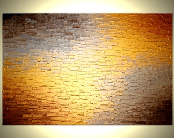 Original Gold Metallic Abstract Textured Painting By LFA Studios Fine Art - Available in Sizes: 16x20, 18x24, 24x30, 24x36, 30x40, 36x48