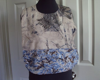 The SBIB--adult bib, special needs, fashionable suit protection, Mens bib, flock of ducks and ferns