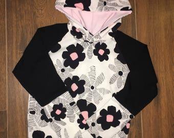 Sweater / hoodie flower pink and black