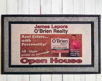 Your Face on Your Own Real Estate Agent Personalized Open House Welcome Mat/Put Your Business Card or Marketing Material on Your Own DoorMat