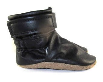 Soft Sole Black Winter Baby Boots Shoes 6 to 12 Month