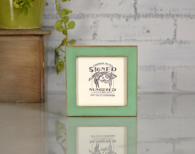5x5 Picture Frame For Square Image in 1x1 Flat Style and in Finish COLOR of YOUR CHOICE - Modern Small Neutral Frame 5x5 inch - Gallery Wall