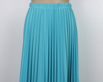 60s TEAL PLEATED SKIRT size small