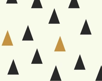 Changing Pad cover -  Large Triangles black gold