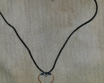 Heart Copper Horseshoe Nail Necklace