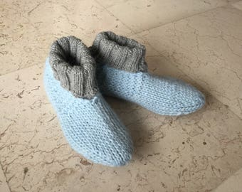upright slippers pure wool hand knitted high quality