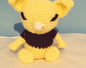 Abra (Pokemon) Amigurumi/crochet. Abra plush. Pokemon plushie. [MADE TO ORDER]