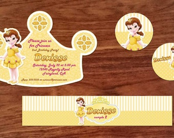 18 beauty and the beast invitation also  tags label party birthday english or spanish