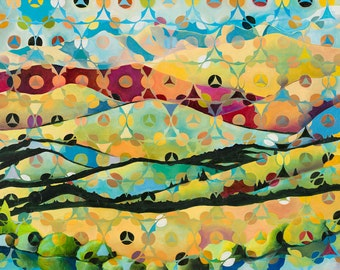 Wood River Valley Cycle - Summer to Fall - giclee print on paper or canvas