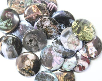 Kayla badge pinback button collection 1inch 25mm -