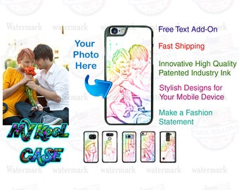Silicone Shockproof Custom iPhone Case Personalized with Rainbow Color Photo for iPhone 7, iPhone 7 PLUS, iPhone 6s PLUS, 6s SE 5s etc