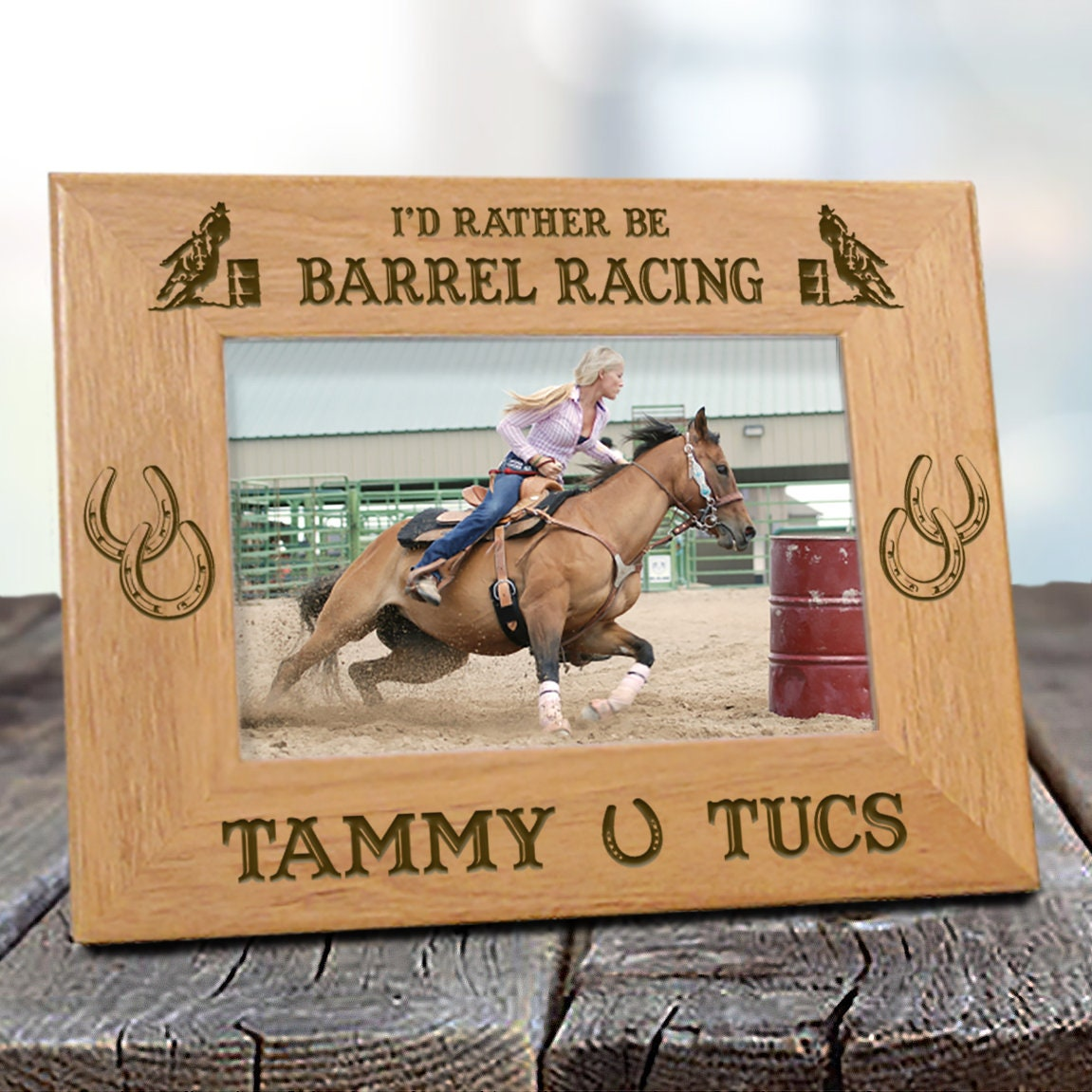 Id rather be barrel racing horse picture frame zoom jeuxipadfo Gallery