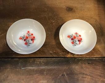 Vintage Fire King Primrose sEt of 2 small bowls