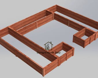 Easy DIY Raised Garden Bed Frame - Design Plans Instructions for Woodworking 01