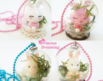 Bunny Snow Globe Necklace