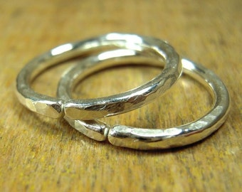 Gauged hoops, 5/8 inch hoops, choose 10 12 14 or 16 gauge thickness, one pair, shiny or oxidized, 1.6 cm hoops.