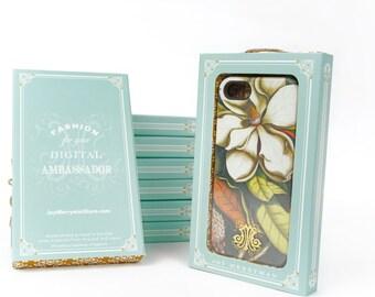 iPhone 7 Case, Magnolia iPhone SE, Samsung Galaxy, Flower iPhone 6s Plus Case Vintage Floral