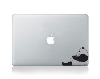 Panda Munching Bamboo Vinyl Decal for Macbook (13/15) or Laptop