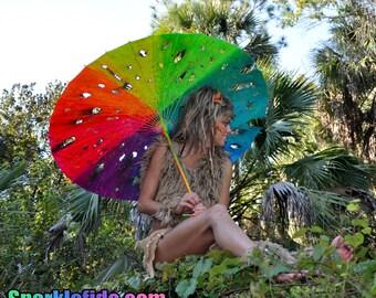 Imagine UV Distressed Rainbow Parasol
