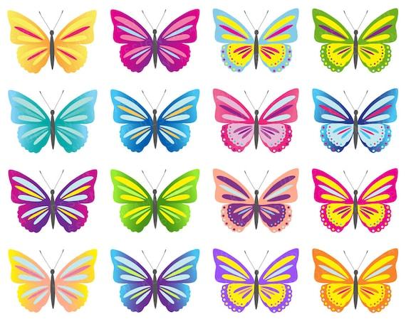 butterfly clip art digital butterflies clipart colorful rh etsystudio com butterflies clipart small butterflies clipart free download