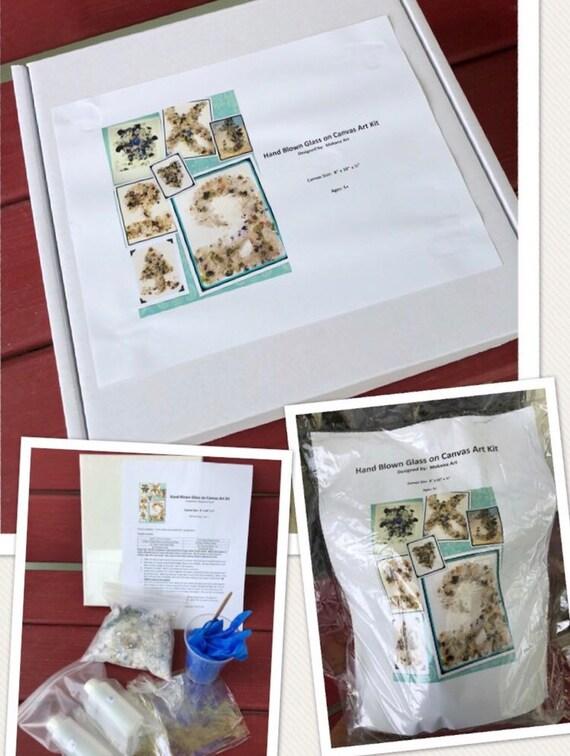 Art Kit: Hand Blown Glass on Canvas from Makana Art Studio, Biloxi, MS