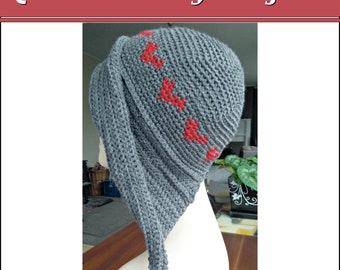 Crochet PATTERN Love Heart Hat With Ear Flaps - Instant Download