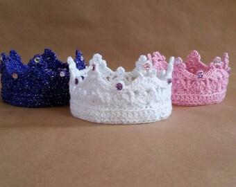 Crochet Princess Crown - Bejeweled