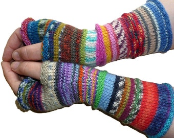 Knit Fingerless gloves - Arm warmers - Wrist warmers - Long Fingerless Mittens - womens fingerless - Hand warmers - Gift