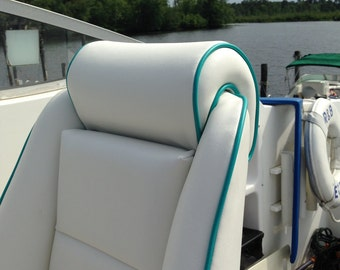 Custom Boat Cushions, Captains Chair, Fighting Chair, Marine Vinyl, Marine Cushions, Outdoor Cushions