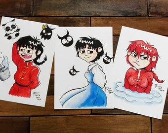 Original artwork size A5 fanart of Ranma (by Nicte Bell)