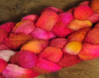 BFL Wool Top for Hand Spinning - 'Phoenix'