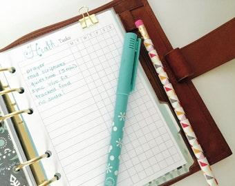 Task List Planner Insert