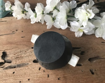 Activated Charcoal Body Bar - Vegan - Body and Face Soap - Peppermint Essential Oil