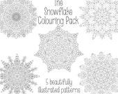 Snowflake Colouring Pack ...