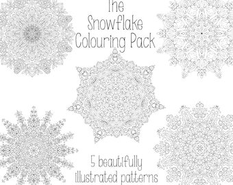 Snowflake Colouring Pack - Digital Download