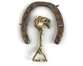 Vintage Brass Horse Bottle Opener, Vintage Solid Brass Horse Head Bottle Opener