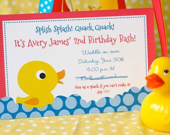 Rubber Ducky Birthday Invitation, Rubber Ducky Birthday, Rubber Ducky Printables, Rubber Ducky Birthday Decorations, Lauren Haddox Designs