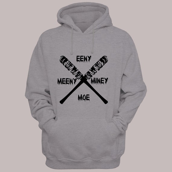 "The Walking Dead ""Eeny Meeny Miney Moe"" Negan Lucille Hoodie Sweater S-4XL Available TWD Hooded Pullover Sweatshirt"