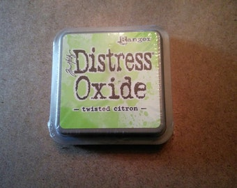Tim Holtz Distress Oxide Ink Pad, Twisted Citron Distress Oxide Ink Pad Brand New