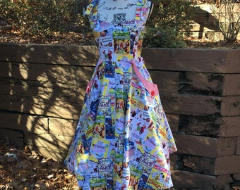 Sweetheart Dress Made with Classic Disney Poster Fabric