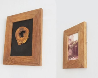 Oak Wood Photo Frame, Rustic Wooden Picture Frame, Reclaimed Wood Picture Frame, Wooden Photo Frames, Rustic Wall Decor