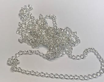 1 foot, 7x5mm Extension Chain for Jewelry Making, Silver, Chain for Jewelry Making, 12 Inches, FAST SHIP