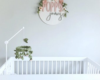 Floral mobile|| Crib arm || Baby mobile