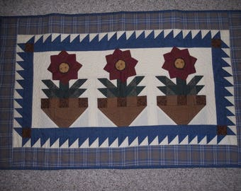 "Quilted Wall Hanging or Table Topper 24 1/2"" X 40"" Thimbleberries"