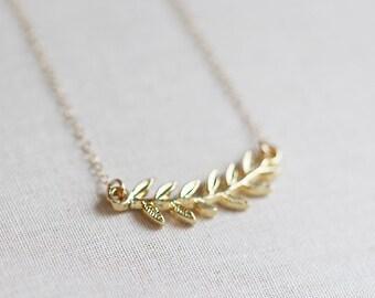 Tiny Gold Branch Necklace