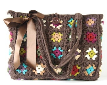 Crochet shoulderbag Britta